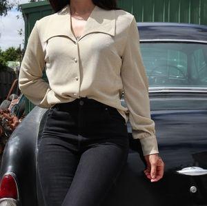Vintage gold lurex shirt size 10